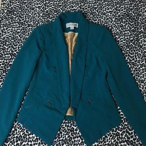 Teal blazer jacket